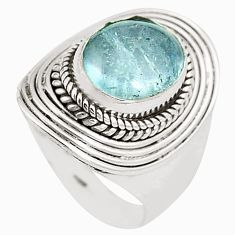 Natural untreated blue topaz 925 sterling silver ring size 7 m33910