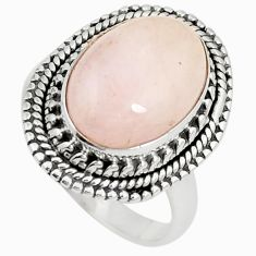 Natural pink morganite 925 sterling silver ring jewelry size 7 m36161
