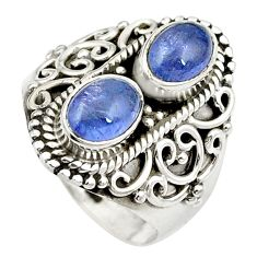Natural blue tanzanite 925 sterling silver ring jewelry size 6 m44518