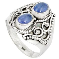 925 sterling silver natural blue tanzanite ring jewelry size 8 m44835
