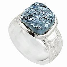 Metalic gun metal 925 sterling silver ring jewelry size 7 m47721
