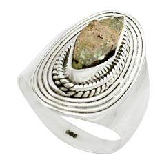 3.98cts natural grey anatase crystal 925 sterling silver ring size 6 m49209