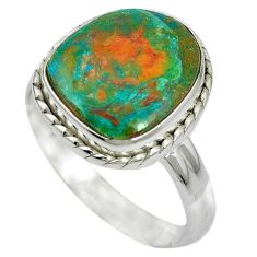 Natural green opaline 925 sterling silver ring jewelry size 8.5 m50525