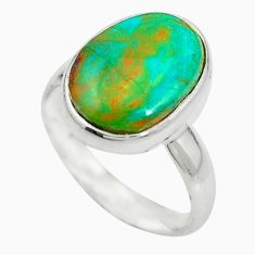 Natural green opaline 925 sterling silver ring jewelry size 8 m50526