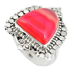925 sterling silver natural pink botswana agate fancy ring size 7 m5396