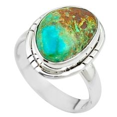 925 sterling silver natural green opaline ring jewelry size 6.5 m54951