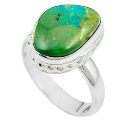 Natural green opaline 925 sterling silver ring jewelry size 7.5 m54954