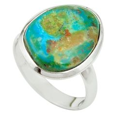 Natural green opaline 925 sterling silver ring jewelry size 8 m54959