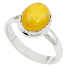 Yellow amber 925 sterling silver ring jewelry size 8.5 m55849