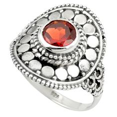 Natural red garnet 925 sterling silver ring jewelry size 7.5 m56326