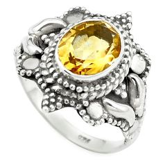 925 sterling silver natural yellow citrine ring jewelry size 6.5 m56398