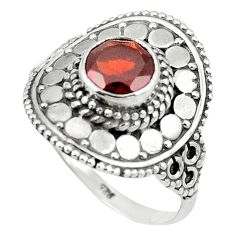Natural red garnet 925 sterling silver ring jewelry size 8.5 m56525