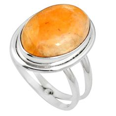 Natural orange calcite 925 sterling silver ring jewelry size 8 m59689
