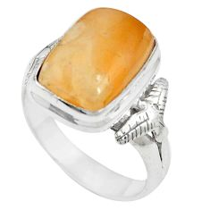 Natural orange calcite 925 sterling silver ring jewelry size 6.5 m59700