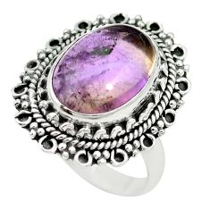 Natural purple ametrine 925 sterling silver ring jewelry size 6 m60023