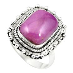 Natural purple phosphosiderite (hope stone) 925 silver ring size 8 m60925