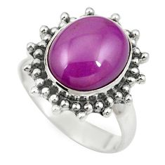 925 silver natural purple phosphosiderite (hope stone) ring size 6.5 m60937