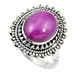 Natural purple phosphosiderite (hope stone) 925 silver ring size 7 m60952