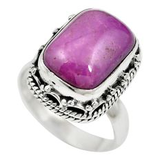 Natural purple phosphosiderite (hope stone) 925 silver ring size 6.5 m60957