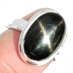8.38cts natural black star 925 sterling silver ring jewelry size 6 m63262