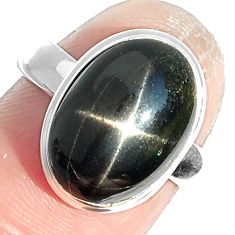 6.23cts natural black star 925 sterling silver ring jewelry size 7 m63293