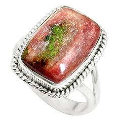 Natural purple muscovite 925 sterling silver ring jewelry size 8 m63581