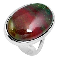 18.70cts natural bloodstone african (heliotrope) 925 silver ring size 6 m63750