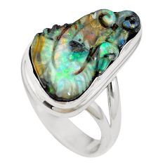 Natural brown boulder opal 925 sterling silver ring jewelry size 7 m65811