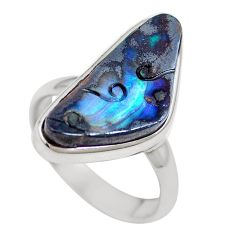 925 sterling silver natural brown boulder opal ring jewelry size 8 m65815