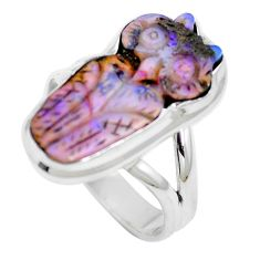 925 sterling silver natural brown boulder opal ring jewelry size 7 m65819
