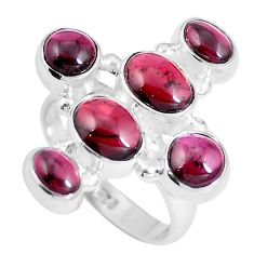 Natural red garnet 925 sterling silver ring jewelry size 8 m70261