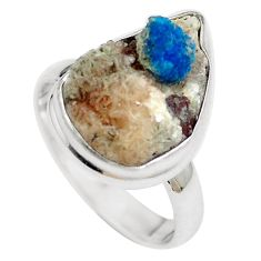 Natural blue cavansite 925 sterling silver ring jewelry size 7 m71966