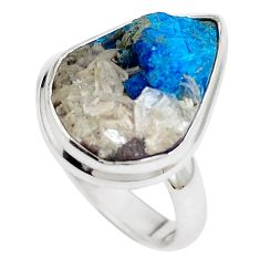 Natural blue cavansite 925 sterling silver ring jewelry size 7.5 m71967