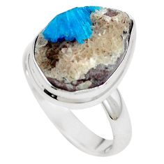 Natural blue cavansite 925 sterling silver ring jewelry size 7.5 m71968