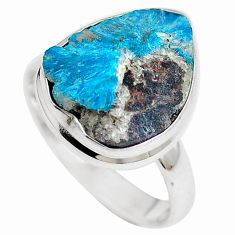 Natural blue cavansite 925 sterling silver ring jewelry size 8.5 m71970