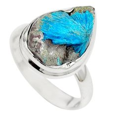 Natural blue cavansite 925 sterling silver ring jewelry size 8.5 m71972