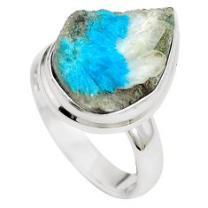 Natural blue cavansite 925 sterling silver ring jewelry size 6 m71974