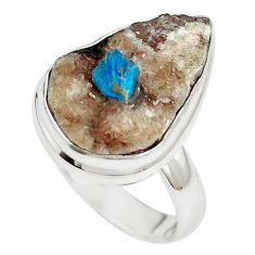 925 sterling silver natural blue cavansite ring jewelry size 7 m71977
