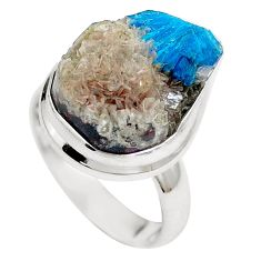 Natural blue cavansite 925 sterling silver ring jewelry size 6 m71979