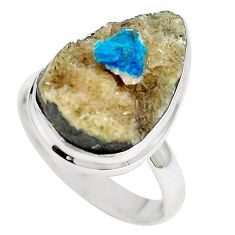 Natural blue cavansite 925 sterling silver ring jewelry size 8.5 m71980