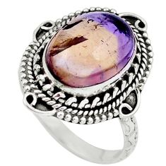 Natural purple ametrine 925 sterling silver ring jewelry size 8 m77710