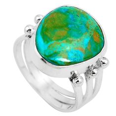 Natural green opaline 925 sterling silver ring jewelry size 6.5 m80533