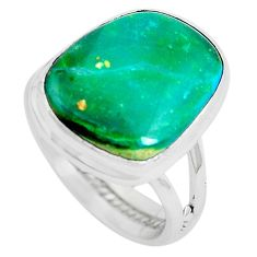 Natural green opaline 925 sterling silver ring jewelry size 7 m80534