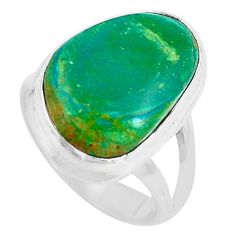 Natural green opaline 925 sterling silver ring jewelry size 7 m80539