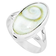 Natural white shiva eye 925 sterling silver ring jewelry size 7 m82648
