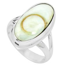 Natural white shiva eye 925 sterling silver ring jewelry size 6 m82655