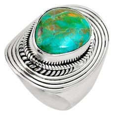 925 sterling silver natural green opaline fancy ring jewelry size 6.5 m82664