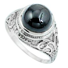 Natural black star 925 sterling silver solitaire ring jewelry size 8 m84221