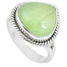 Natural green prehnite 925 sterling silver ring jewelry size 8.5 m84675