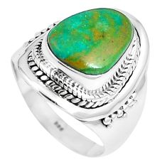 5.91cts natural green opaline 925 silver solitaire ring jewelry size 7.5 m89843